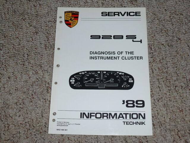 1989 Porsche 928s4 928 S4 Instrument Cluster Shop Service