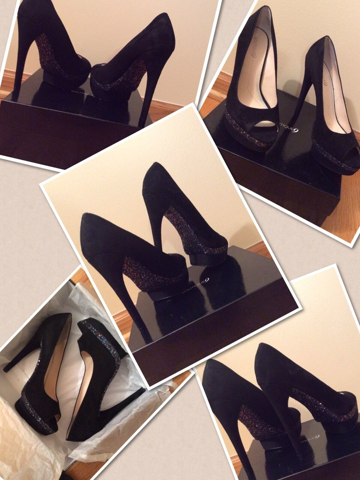 Nuova Boutique 9 Sparkle scarpe sz 9,5   garantito