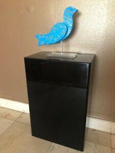 LuciteDisplays-Acrylic-Art-Sculpture-Stand-Pedestal-Display-Black-16W-x-9D-x-24H