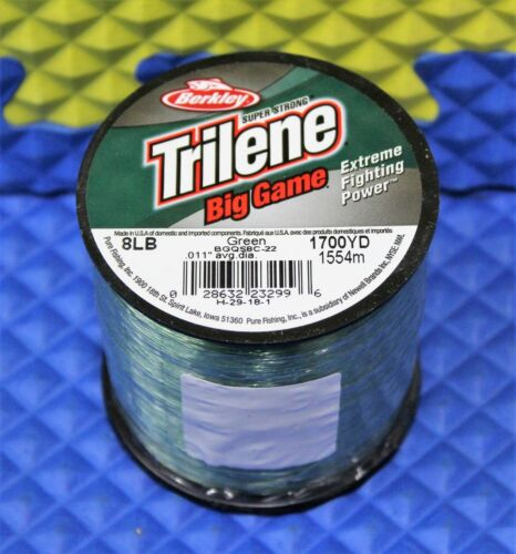 BGQS CHOOSE YOUR LINE WEIGHT Berkley Trilene Big Game Green 1//4 LB Spools Mono