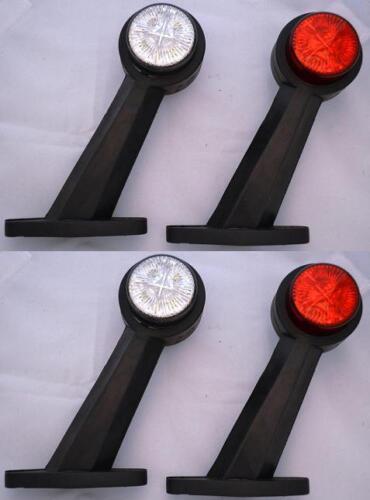 4x Red Weiß Seitenblinker Led-Licht 24V Anhänger Lkw für Mercedes DAF Volvo Mann