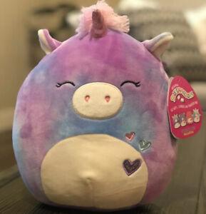 """Squishmallow Kellytoy Aurora The Tie Dye Unicorn 8/"""" Plush Toy Pillow Pet"""
