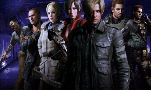 "Resident Evil 1 2 3 4 5 6 Biohazard Zombie Shoot TV Game 21/""x13/"" Poster 030"