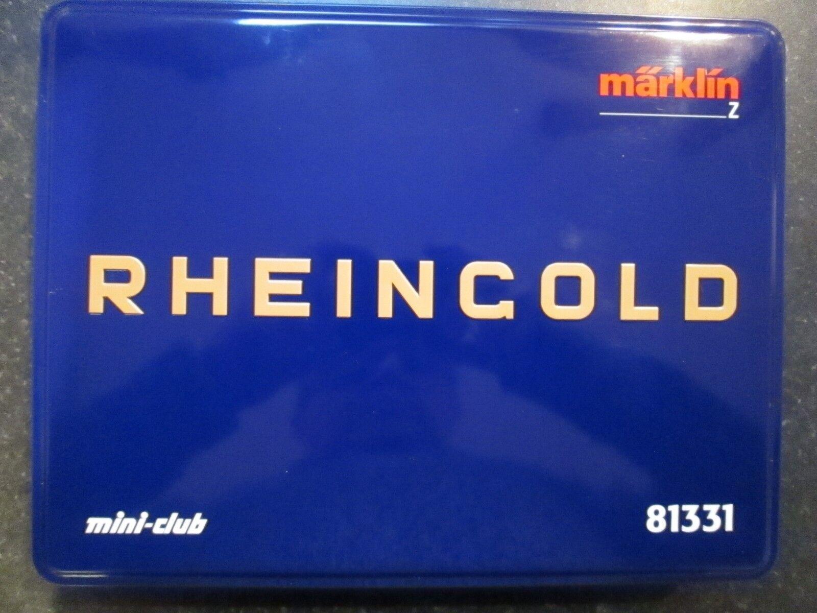 Marklin spur z scale/gauge  75 Years of the Rheinoro  Train Set. V Rare.