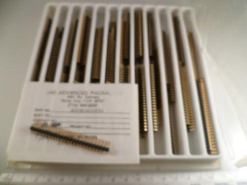 SAE RHS6925WIR Fácil Snap 25 Pin SIL R//angled encabezado Enchufe Dorado 2.54mm MBF006E