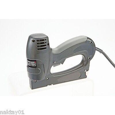 3-In-1 Stapler/Brad/Pin Nailer Gun Electric Tool Carpentry Upholstery Wood Shop