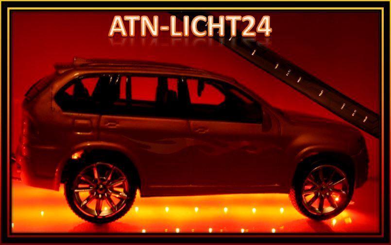 12V 2x 120cm + 2x 60cm LED SMD Leisten für Unterbodenbeleuchtung Wasserdicht SET