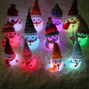 Xmas-Gift-LED-Snowman-Santa-Claus-Ornament-Christmas-Tree-Light-Hanging-Decor-HG