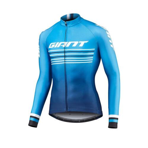 Thermal Fleece mens team cycling long sleeve jersey cycling jerseys cycling top