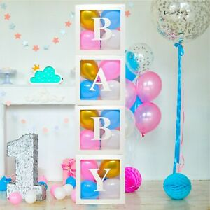 Baby-Clear-Boxes-4-pcs-12-034-by-Serene-Selection-40-Balloons-Included