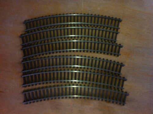 6 Stk. D768mm // 30°   Halbkreis KLEINBAHN gebogene GELEISE 611