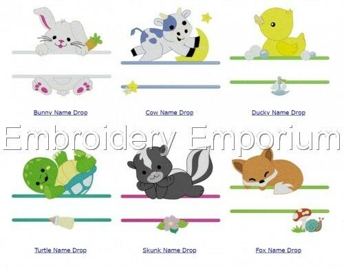 BABY NAME DROPS COLLECTION MACHINE EMBROIDERY DESIGNS ON CD OR USB