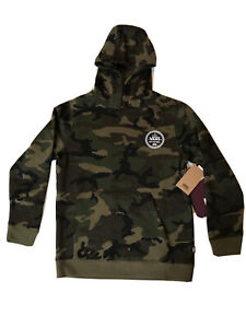 VANS-Checker-66-Pullover-Hoodie-Camo-Green-Brown-OTW-Youth-SZ-M-VN0A4TS8CMA