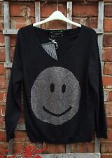 BNWT Camouflage Couture 100% Cashmere Black Slouch Jumper (54) RRP £595
