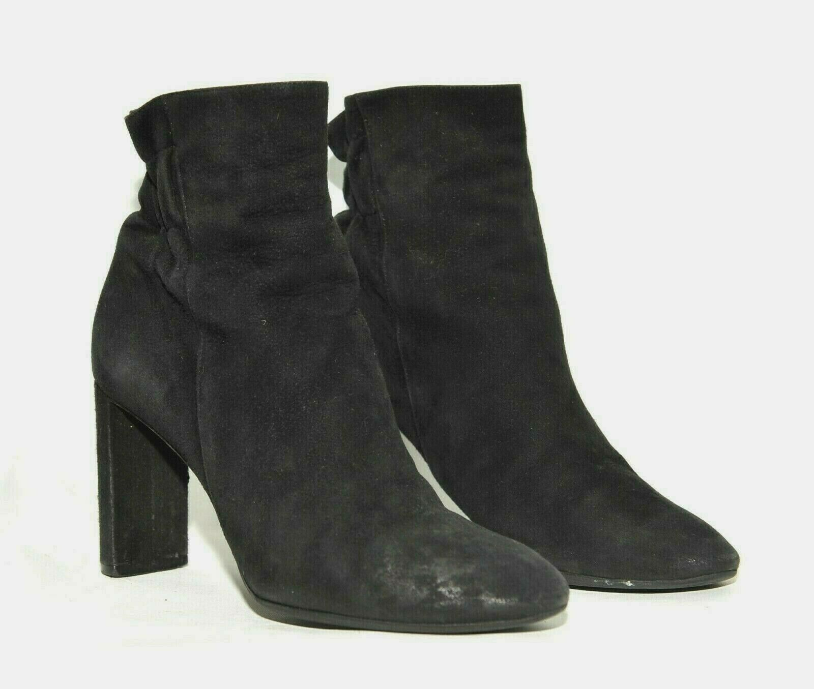 GREAT LADIES DIOR BLACK SUEDE ANKLE BOOTS LEATHER SIZE UK 4 EU 37