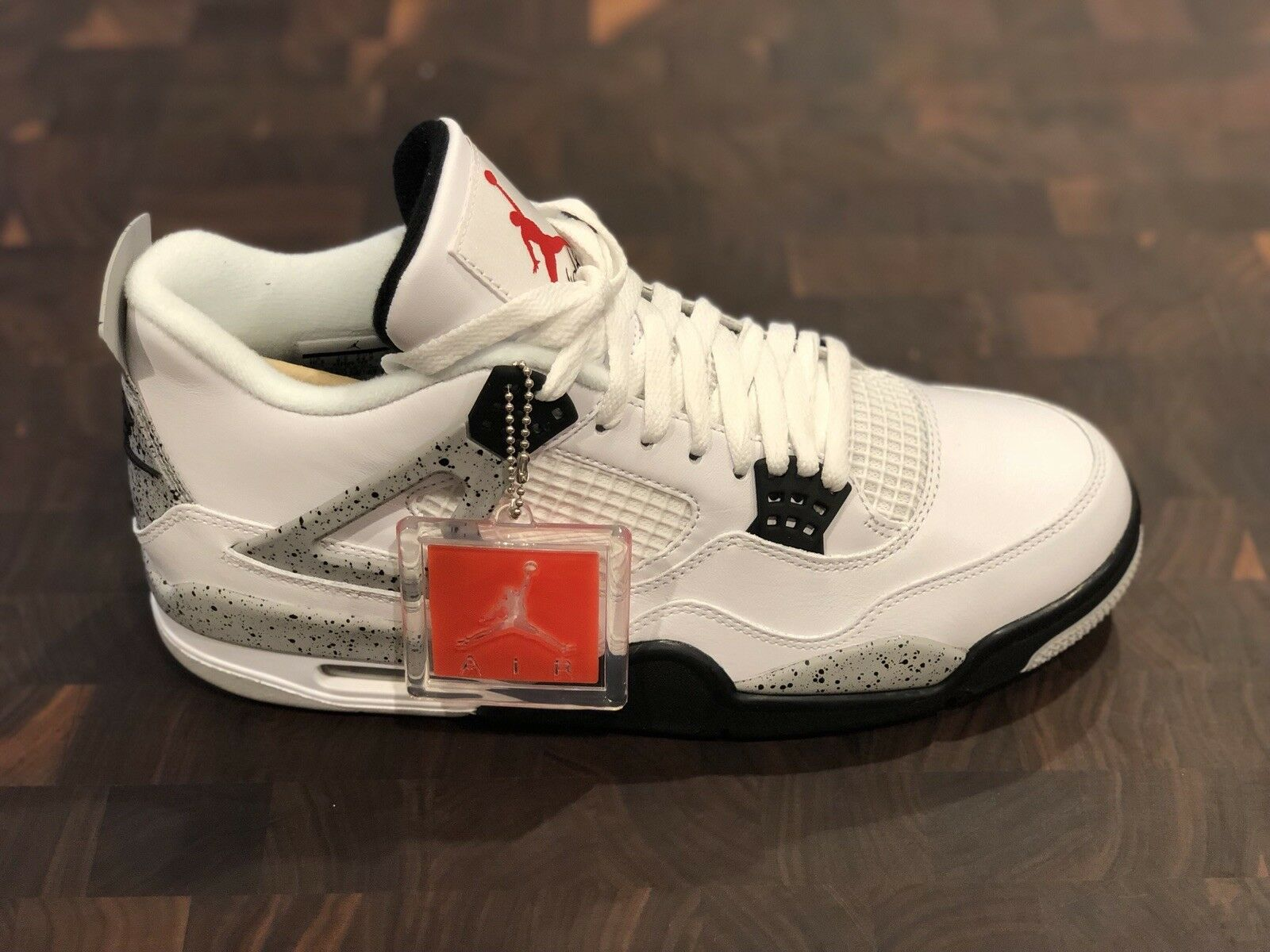 nike air jordan retro 4 white cement Size 10.5 With Receipt 2018 OG 840606-192