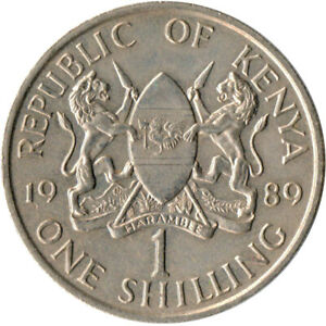 Kenya-1-Shillings-1989-VF-Copper-nickel-WT3379