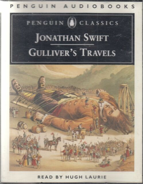 Jonathan Swift Gulliver's Travels 4 Cassette Audio Book Abridged Hugh Laurie