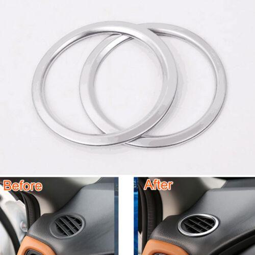 2*Air Condition Vent Outlet Cover trim Fit For Honda Vezel HR-V HRV 2014-2018