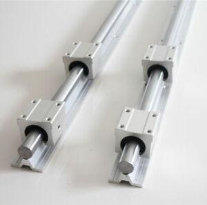 2 pcs SBR25 500mm/1200mm Linear Rail Shaft Rod + 4 pcs SBR25UU Block Bearing