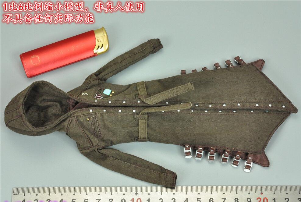 1 6 STAR MAN Windbreaker Female Killer Brown coat Model For 12  Action Figure