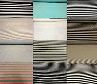Stripe Viscose Jersey 2 Way Stretch Lycra Fabric Cotton Material Striped