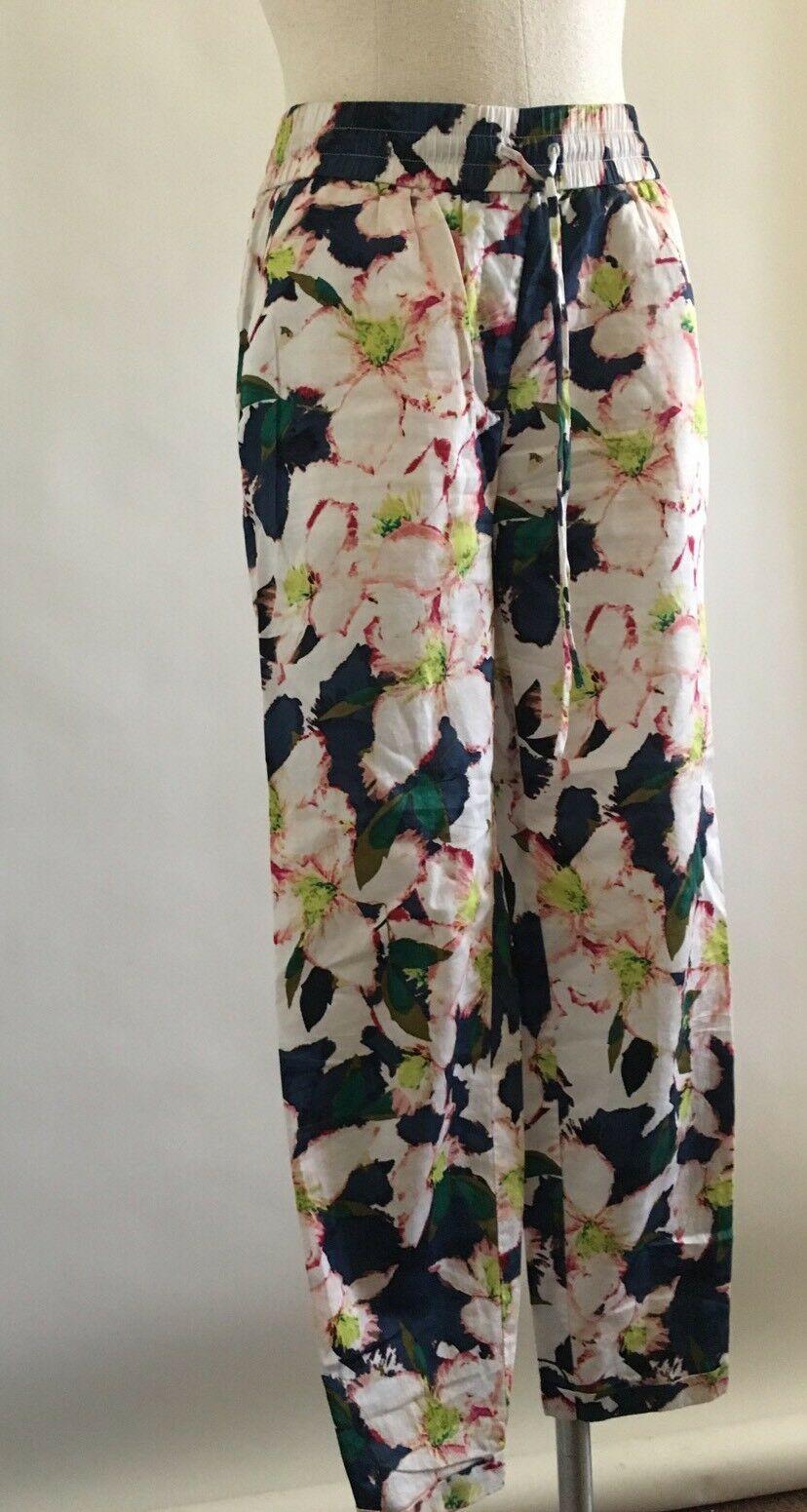 J.Crew drawstring pant in cove floral Size 00