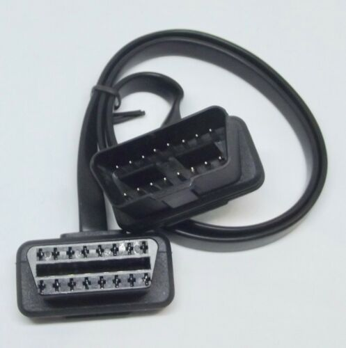 OBD2 Verlängerungskabel Flachband 60 cm Stecker auf Buchse OBD2 Diagnosestecker