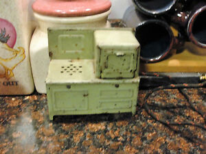 Toy Electric Stove Green in color Circa 1930's works