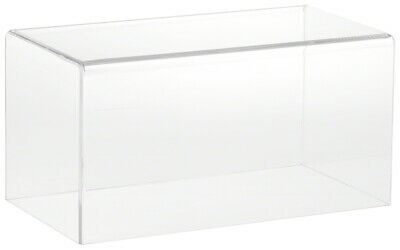 """Plymor Clear Acrylic Display Case with Black Base 8/"""" W x 8/"""" D x 12/"""" H"""
