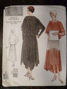 Vogue-2535-Original-1928-Design-Pattern-2001-Reissue-in-size-6-8-10-Uncut