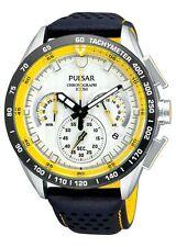 Pulsar PU2013 para hombre Cronógrafo 100M Neo Sport WRC Reloj con correa de cuero vendedor de Reino Unido