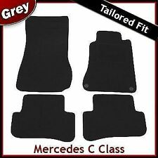 Tailored Carpet Mats for MERCEDES C-Class W203 Saloon 2000-2007 GREY