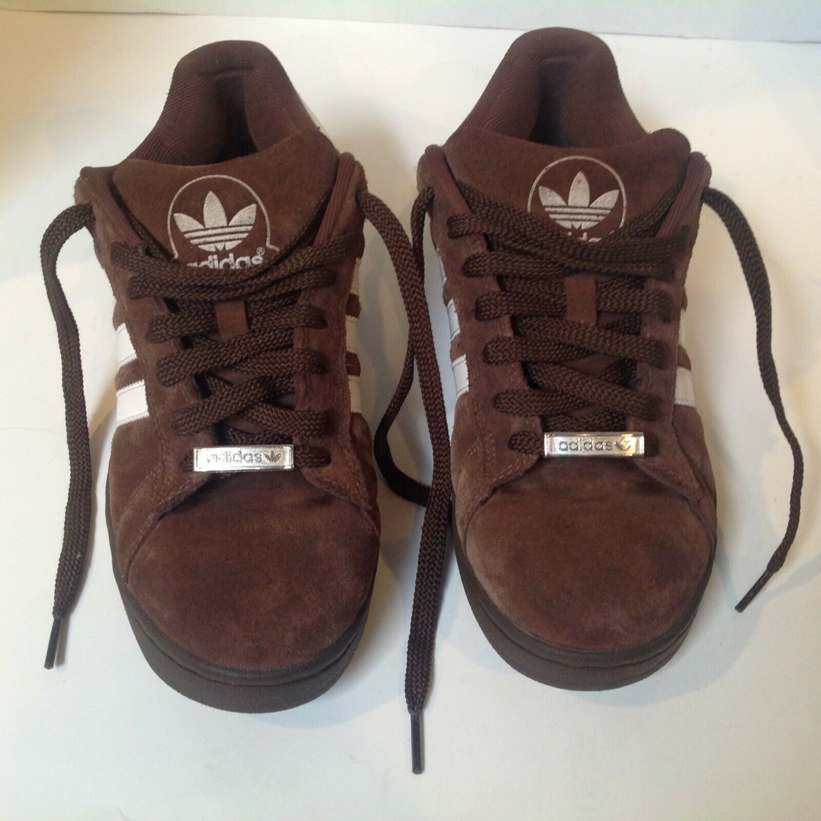 Adidas Campus ST Brown Trefoil 3 Stripes Spell out  Suede shoes Mens 8