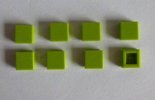 lastra 1x1 colore lime verde nuovi. 8 X LEGO ® 3070 piastrella
