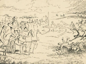 Harold Hope Read (1881-1959) - Pen and Ink Drawing, Military Scene