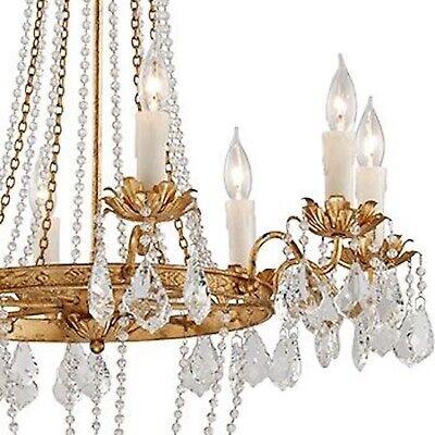 Visual Comfort Replica Petite Paris Flea Market Chandelier Empire Crystal Gold Ebay