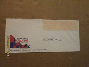 CHL Indianapolis Checkers Vintage Defunct Dated 1984 Team Logo Business Envelope