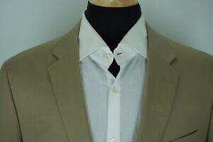 Jcrew-Ludlow-Khaki-Larusmiani-Cotton-Blend-Sport-Coat-Jacket-Sz-44R-NEW-WITH-TAG