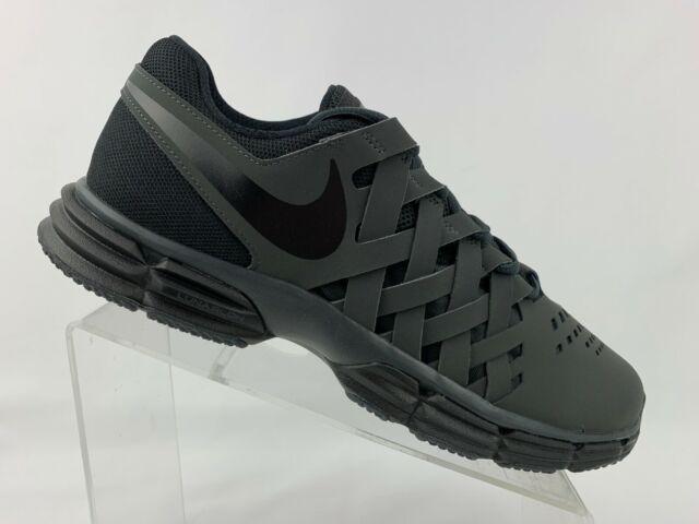 Nike Men's Lunar Fingertrap TR Shoes Size 8 Black Anthracite Gray 898066 #80320
