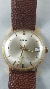 Solar watch men's very rare German  military WWII works