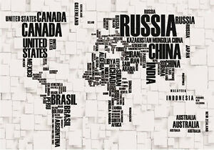 Details about 3D World Wide Map Wallpaper Customize Full Wall Mural Photo  Printed Home Decor