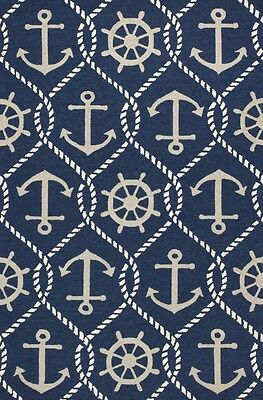 3x5 3 3 Quot X 5 3 Quot Tropical Coastal Nautical Anchor Blue