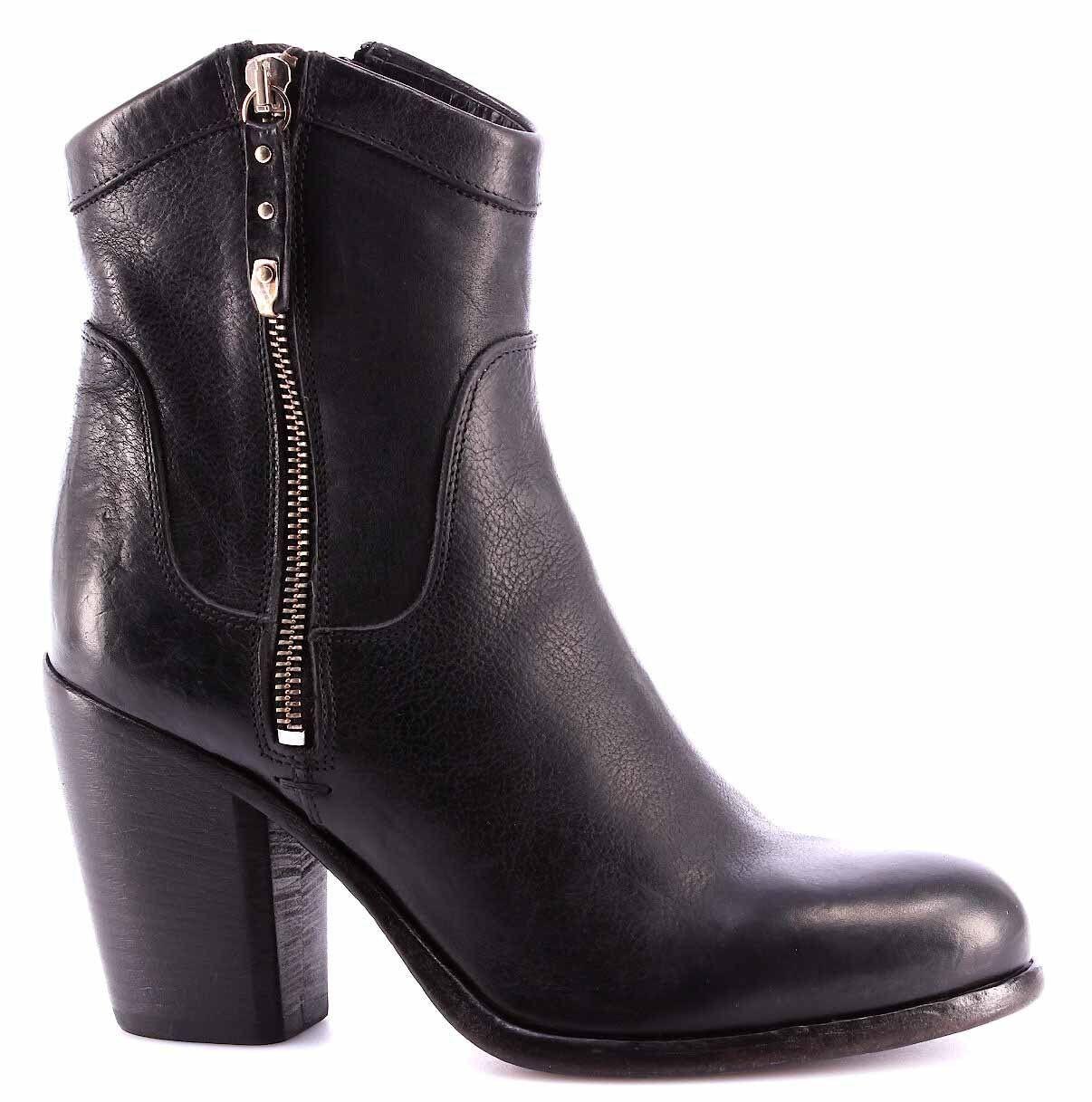 MOMA Cusna Scarpe Stivaletto Donna Ankle Boot 91503-4A Cusna MOMA Nero Pelle Vintage Italy 665da4