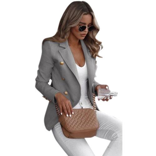 Damen Blazer Sakko Jacken Casual Slim Fit Business Anzug Jacke Mantel Outwear