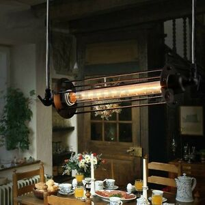 Retro-Lampe-Suspension-Industriel-Plafonnier-Steampunk-Lustre-Light-Luminaire