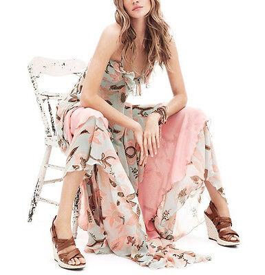 Vestito Donna - Woman Dress - Chiffon - Rosa Fiori Flowers - A110024