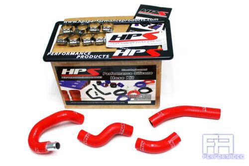 HPS Silicone Heater Coolant Hose Kit For 07-08 350Z Z33 3.5 3.5L V6 VQ35HR Red