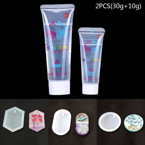 2Pc//Set Crystal Clear Resin Pigment Epoxy Transparent Resin Art Craft Diy OX