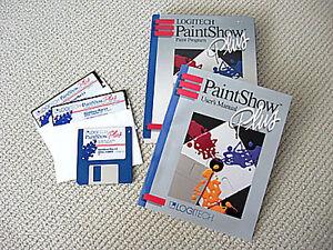 Logitech-Paint-Show-Plus-graphics-software-2-0-for-DOS